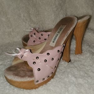 Steve Madden Pink Studded Mules with Ribbon Bow 7